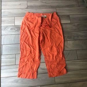 Merona orange capris 18w